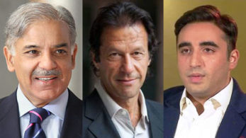 PMLN's Shahbaz Sharif, PTI's Imran Khan and PPP's Bilawal Bhutto are the main contenders in elections