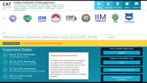 IIM CAT 2018: Last date for application submission extended @ iimcat.ac.in, check when