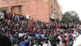 JNU polls: ABVP posters promising ban on short dresses, save campus from anti-national comrades come up, outfit denies involvement