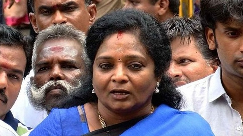 Tamil Nadu student shouts down with fascist Govt at state BJP chief Tamilisai, arrested