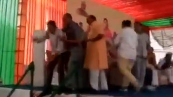 Two BJP leaders got into a fight in Rajasthan's Alwar