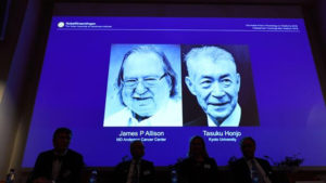tasuku honjo,Sweden's Karolinska Institute,Nobel Prize in Physiology or Medicine,James P. Allison,James Allison,2018 Nobel Medicine Prize