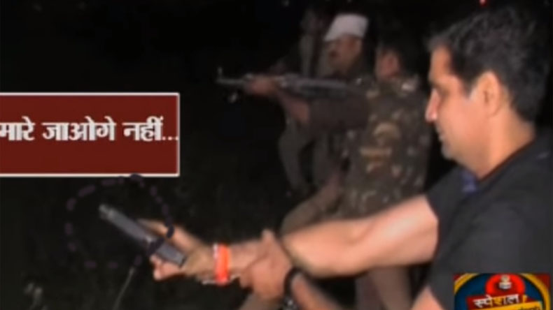 Uttar Pradesh Police team out on encounter in Sambhal struggles to fix malfunctioning weapon