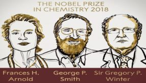 2018 Nobel Prize in Chemistry: Frances H Arnold, George P Smith, Sir Gregory P Winter win for their work on evolutionary science