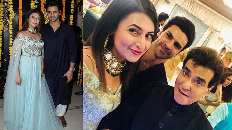 34abd3949 Divyanka Tripathi Dahiya celebrates Diwali with legendary actor Jeetendra