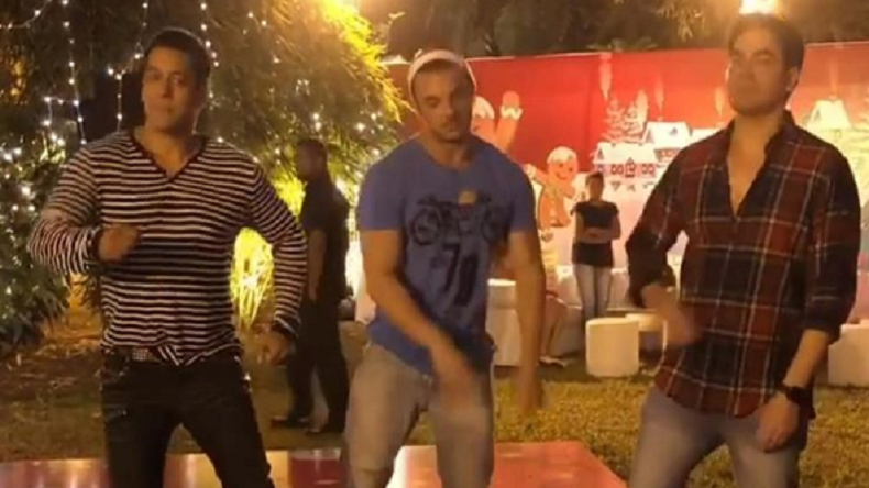 Salman Khan Dancing With Brothers Arbaaz Khan And Sohail Khan Is Unmissable Watch -9328
