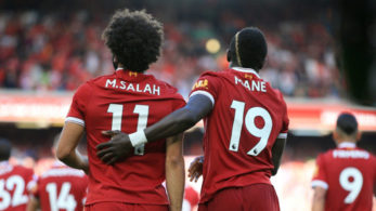 Liverpool's Mohamed Salah and Sadio Mane can pose problems to Everton