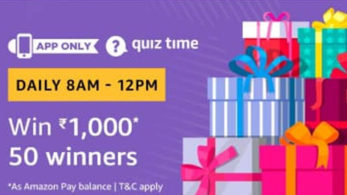Amazon Quiz, Amazon Quiz today, Friday, January 11 2019, Amazon Quiz questions and answer, rs 1,000 Amazon Pay balance