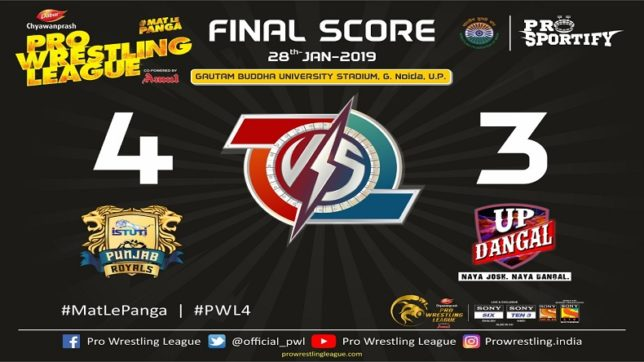 Pro Wrestling League Season 4 Day 15 Punjab Royals vs UP Dangal Live Updates: UP Dangal qualifies for semi-finals despite 4-3 loss to table-topping Punjab Royals