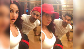 Nora Fatehi trains with Varun Dhawan for Street Dancer 3D, see pic