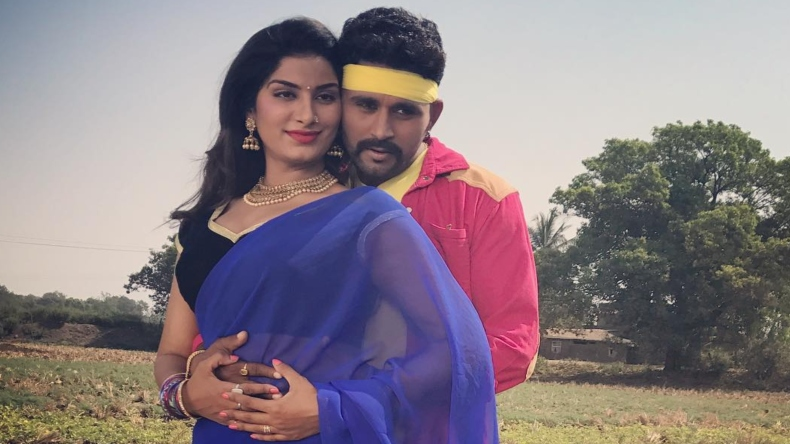 Poonam Dubey sexy photos: Bhojpuri item queen shares a hot photo with co-star Yash Kumar