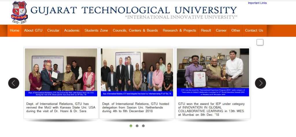 Gujarat Technological University, GTU official website, gtu.ac.in, GTU result declared, Diploma fifth semester result declared on the official website, Result of DIPL SEM 5 announced,
