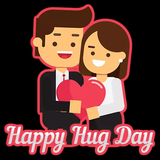 Happy Hug Day 2019 Whatsapp Stickers Animated Gif Hd Pictures