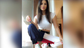 Sunny Leone photos: Babydoll sizzles in a white crop top!