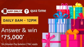 Amazon Quiz, Amazon Quiz today, Friday, March 15 2019, Amazon Quiz questions and answer, Rs 75,000 Amazon Pay Balance, Rs 75,000 Amazon Pay Balance prize