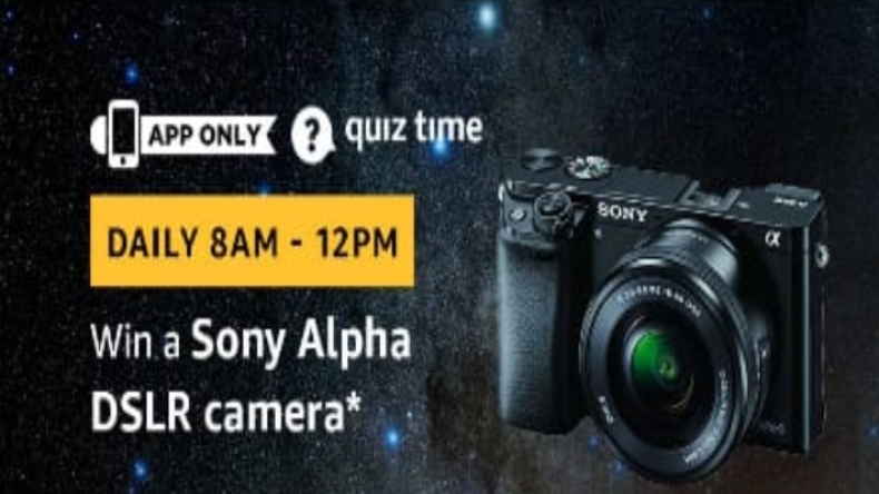 Amazon Quiz, Amazon Quiz today, Saturday, March 23 2019, Amazon Quiz questions and answer, Sony Alpha DSLR camera, Sony Alpha DSLR camera features, Sony Alpha DSLR camera specs