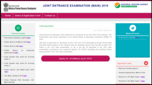 JEE Main 2019, JEE Main 2019 april exam, JEE Main 2019 April exam admit cards, jee mains official website, jeemain.nic.in, steps to download JEE Mains 2019,