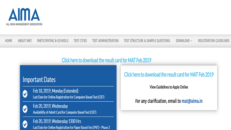 Aima Mat Admit Card 2019 Hall Tickets For Mba Entrance