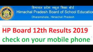 Himachal Pradesh Board 12th Result 2019