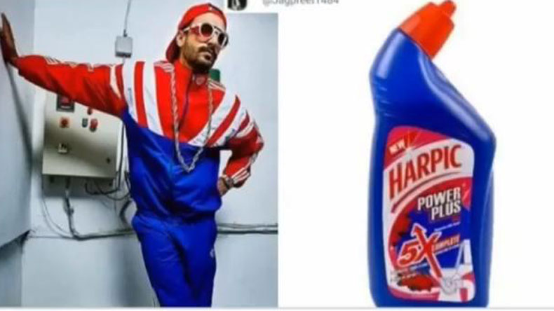 Ranveer Singh shares memes comparing him to toilet cleaner and it's savage