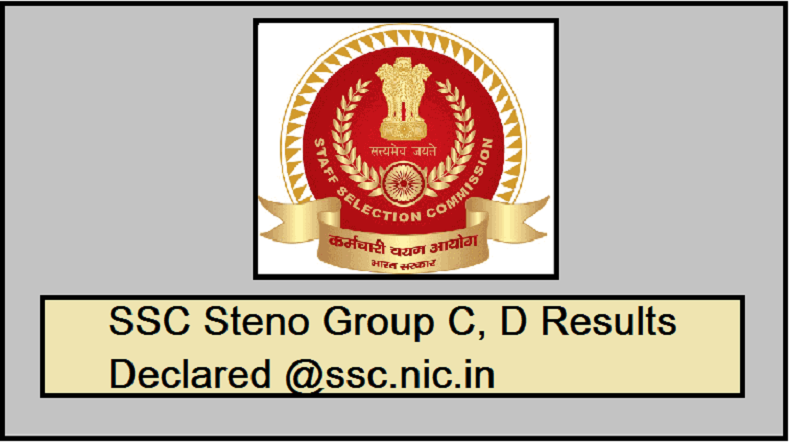 SSC Stenographer Result 2018-19: Staff Selection Commission declares SSC Group C, D result @ssc.nic.in