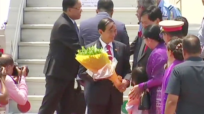 U Win Myint, Modi oath taking ceremony