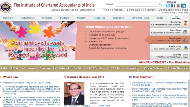 ICAI exam 2019: Online registration for IT, soft skill certification