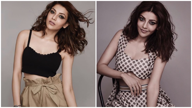 Kajal Aggarwal Hot Photo South Fame Looks Sexy In Black -7709