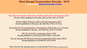 West Bengal WBBSE Madhyamik Result 2019 declared, WB Class 10 result, West Bengal board result 2019, steps to download WB Class 10 result, wbresults.nic.in