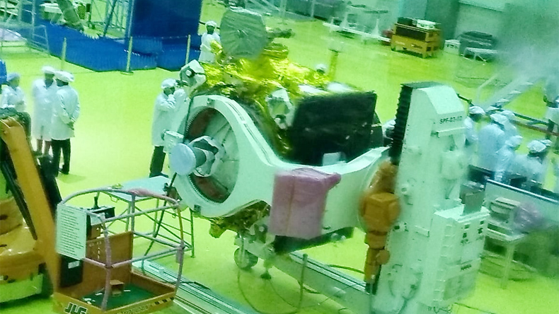 Chandrayaan-2 weighs about 3.8 tonnes, the equivalent of eight elephants.