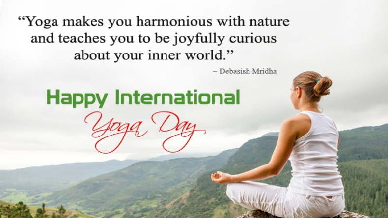 send some inspirational quotes to your friends and family so that they may also be encouraged to inculcate the practice of yoga in their life
