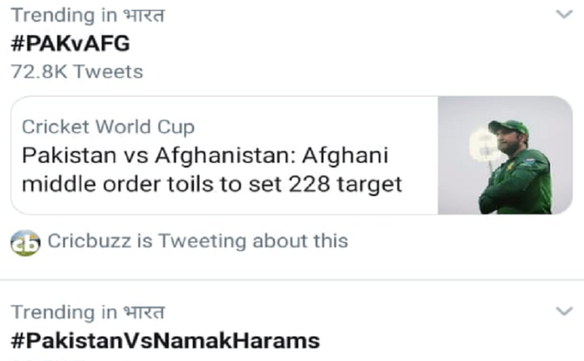 #PakistanVsNamakHaram trends on Twitter after Afghanistan Cricket Board CEO claims their team is better than Pakistan