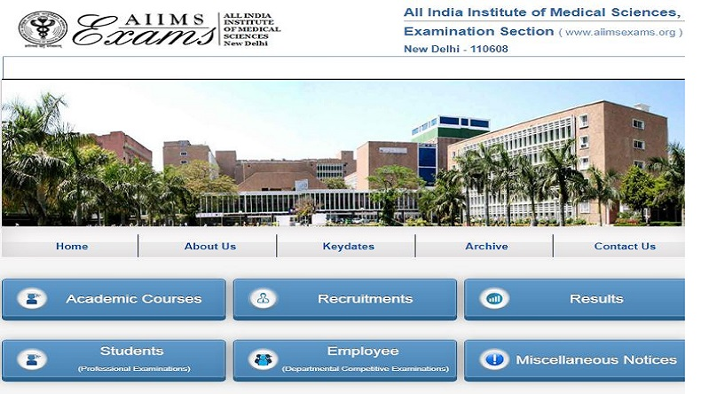 aiimsexams.org releases AIIMS MBBS Result 2019: Download AIIMS result 2019 and merit list