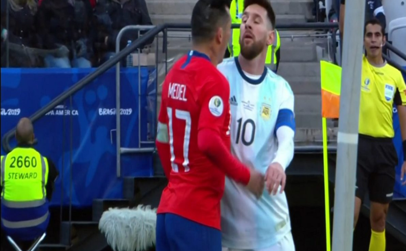 On second red card, Lionel Messi says corrupt referees harming football