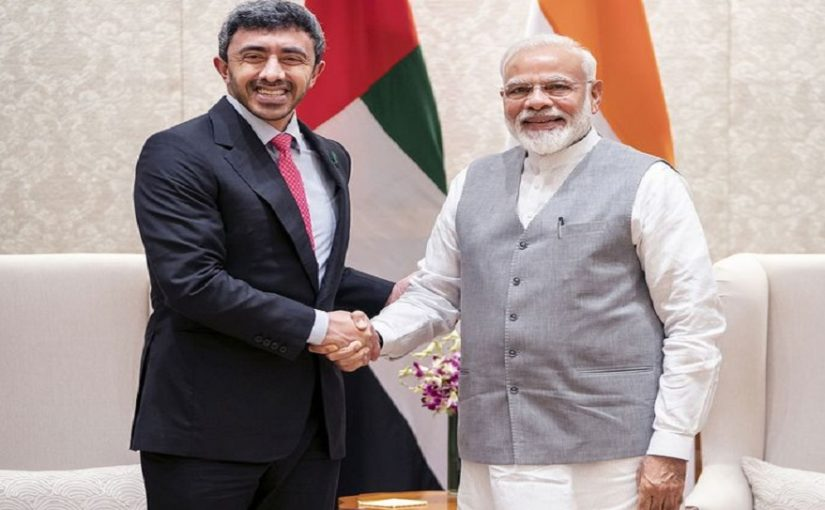 PM Narendra Modi meets UAE foreign minister, talks of strengthening ties between the two nations