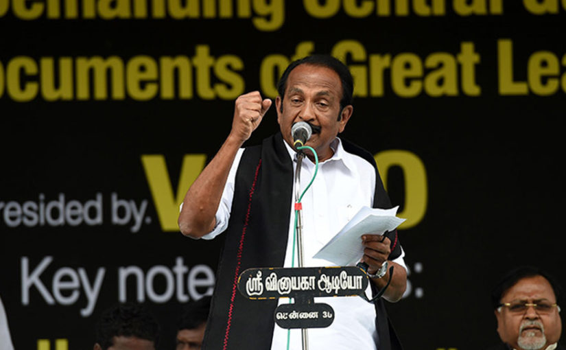 Kashmir news: MDMK's Vaiko says Kashmir will not be a part of India on 100th Independence Day