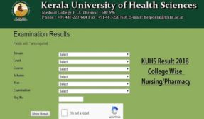 KUHS Results 2019