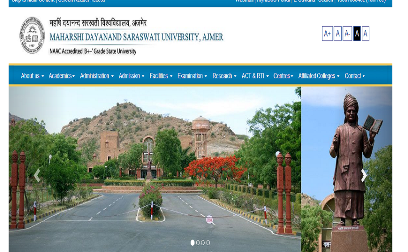 MDSU BA 2nd year result 2019 declared at mdsuajmer.ac.in, steps to check result