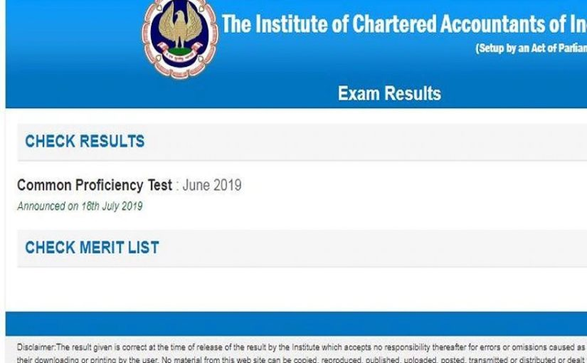 CA results 2019