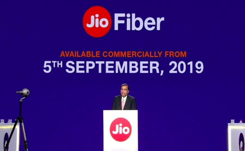 Reliance AGM 2019: Jio GigaFiber services to launch September 5, Rs 700 cheapest plan, free 4K LED TV with forever plan