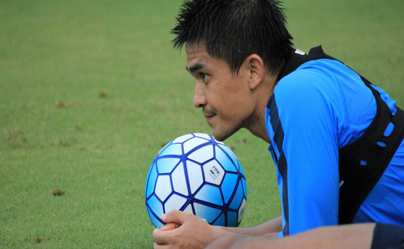 Sunil Chhetri on field | File photo