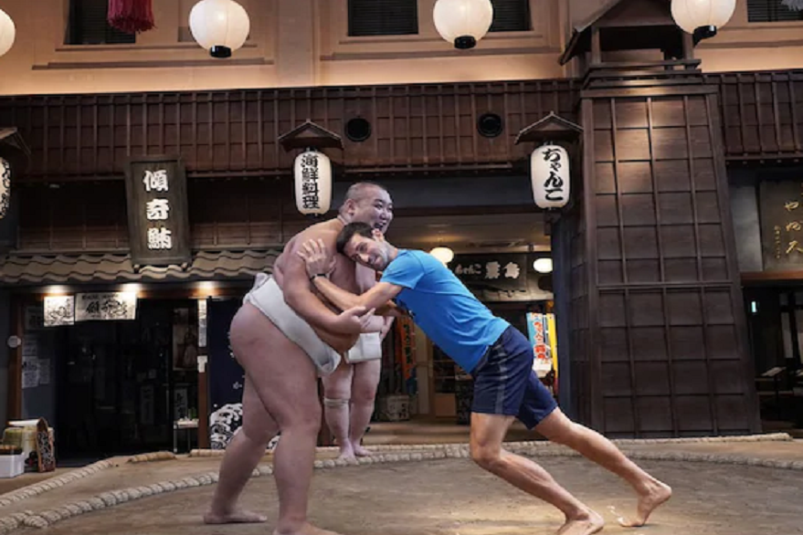 Tennis star Novak Djokovic steps into sumo ring, gets defeated in a hilarious fight