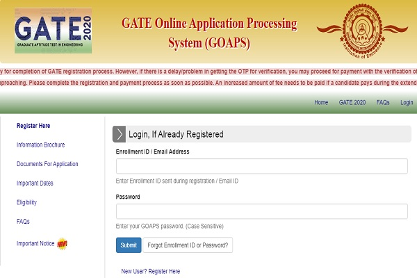 GATE Registration 2020: Application with late fees closes tomorrow, apply @gate.iitd.ac.in