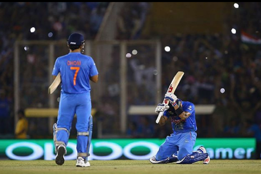 Virat Kohli bows down to MS Dhoni
