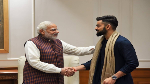 Virat Kohli with PM Modi