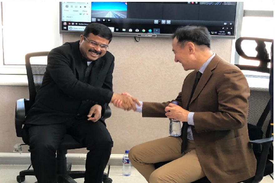 Union Minister Dharmendra Pradhan visits Mongolia, participates in commissioning ceremony of infra projects developed with Indian support