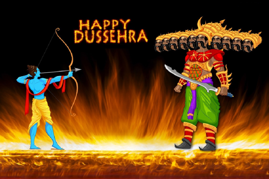 Happy Dussehra 2019 Wishes, Quotes, Messages in English: Vijayadashami photos, HD wallpapers, Gif Images for Facebook, WhatsApp status