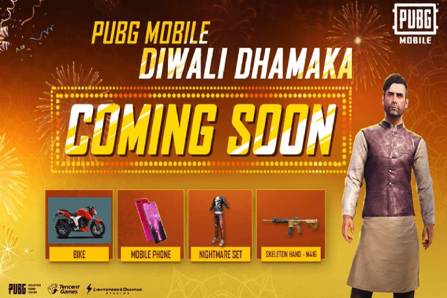 PUBG Mobile Diwali Dhamaka Event: From kurta pajama in-game costume to Oppo smartphones, here is what you can grab in the mega event